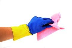 witn ветоши руки перчатки стоковые фотографии rf