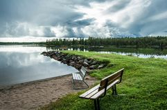 Witn du nord magique Finlande de frontière de la Suède photos libres de droits