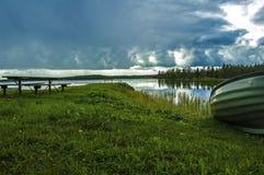 Witn du nord magique Finlande de frontière de la Suède images libres de droits