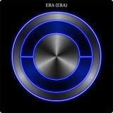 Witn Münze der Metall-ÄRA (ÄRA) blaues Neonglühen stock abbildung
