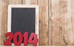 Witn numéro 2014 de tableau noir Photos libres de droits
