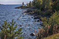 Witn septentrional mágico Finlandia de la frontera de Suecia fotografía de archivo libre de regalías