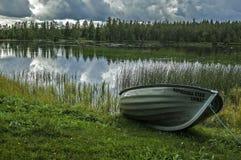 Witn septentrional mágico Finlandia de la frontera de Suecia imagen de archivo