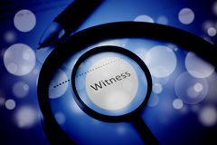 Witness Concept Background Royalty Free Stock Images