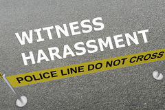 Witness Harassment concept Stock Images
