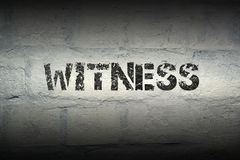 Free Witness Word Gr Stock Images - 85106494
