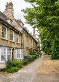 Witney in Oxfordshire. A typical street in the Cotswold village of Witney in Oxfordshire Royalty Free Stock Photo