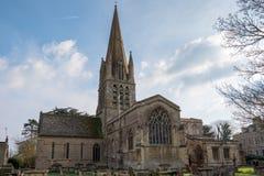 WITNEY, OXFORDSHIRE/UK - 23 MAART: De Kerk van St Mary ` s op T Royalty-vrije Stock Foto's
