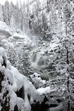 Witnter waterfalls in Yellowstone NP stock photos