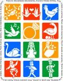 święto bożęgo narodzenia dwanaście Obrazy Royalty Free