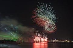 Święto Państwowe fajerwerki w Abu Dhabi, UAE Fotografia Royalty Free