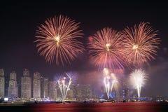 Święto Państwowe fajerwerki w Dubaj Obraz Stock