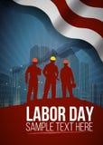 Święto Pracy karta lub plakatowy projekt, wektorowa ilustracja Obraz Royalty Free