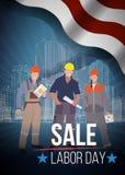 Święto Pracy sprzedaży amerykanin tekstów znaki również zwrócić corel ilustracji wektora Obraz Stock