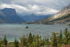 Świątobliwy Mary jezioro, Montana, usa Fotografia Stock