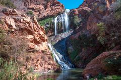 Witpoortjie vattenfall, Sydafrika Arkivfoton
