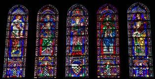 Witraż przy Chartres katedrą Zdjęcie Stock