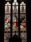Witraż w bazylice święty Peter i Paul Zdjęcie Stock