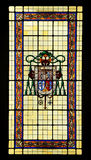 Witraż w Biskupim pałac w Ciudad Real, Castilla los angeles Mancha, Hiszpania Obrazy Stock
