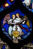 Witraż w Paryż aniołowie obrazy royalty free