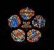 Witraż Windows przy Galway katedrą Irlandia zdjęcie stock