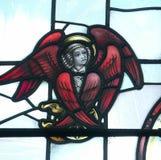Witrażu anioł obraz royalty free