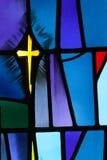 Witrażu krzyż Zdjęcia Stock