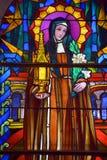 Witrażu okno świętego Joseph kościół Fotografia Royalty Free