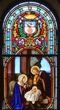Witrażu okno świętego Joseph kościół Obrazy Royalty Free
