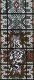 Witrażu okno Obrazy Royalty Free