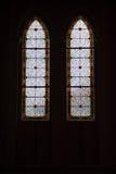 Witrażu okno brać w Maephra Patisonti Niramon kościół przy Chanthaburi prowincją zdjęcia stock