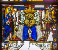 Witrażu okno od Pena Krajowego pałac, Portugalia Zdjęcia Royalty Free