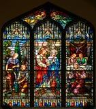 Witrażu okno St Paul kościół episkopalny obrazy royalty free