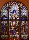 Witrażu okno St Paul kościół episkopalny obrazy stock