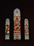 Witrażu okno w świętego kościół Obraz Royalty Free