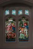 Witrażu okno w świętego Oswald kościół, Grasmere Zdjęcia Royalty Free