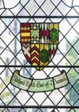 Witrażu okno z żakietem ręki Zdjęcia Royalty Free