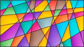 Witraż abstrakcjonistyczna ilustracja z kolorowymi postaciami Fotografia Stock