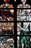 Witraż - jezus chrystus Obrazy Stock