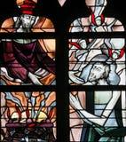 Witraż - jezus chrystus Fotografia Stock
