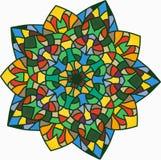 Witrażu kwiat Obraz Stock