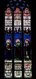 Witrażu okno Zdjęcia Royalty Free