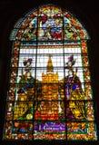 Witrażu okno Obrazy Stock