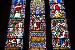Witrażu okno Fotografia Royalty Free