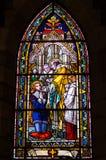 Witrażu okno Zdjęcie Royalty Free