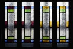 Witrażu okno, kolorowy szklany okno, Zdjęcie Stock