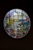 Witrażu okno na czarnym tle Obraz Stock