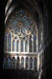 Witrażu okno w Metz katedrze Francja Zdjęcie Royalty Free