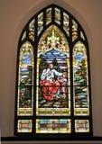 Witrażu religijny Okno Obrazy Stock