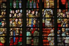 Witraż w Mechelen katedrze Obrazy Stock